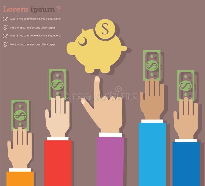 ahorro del dinero stock de ilustración