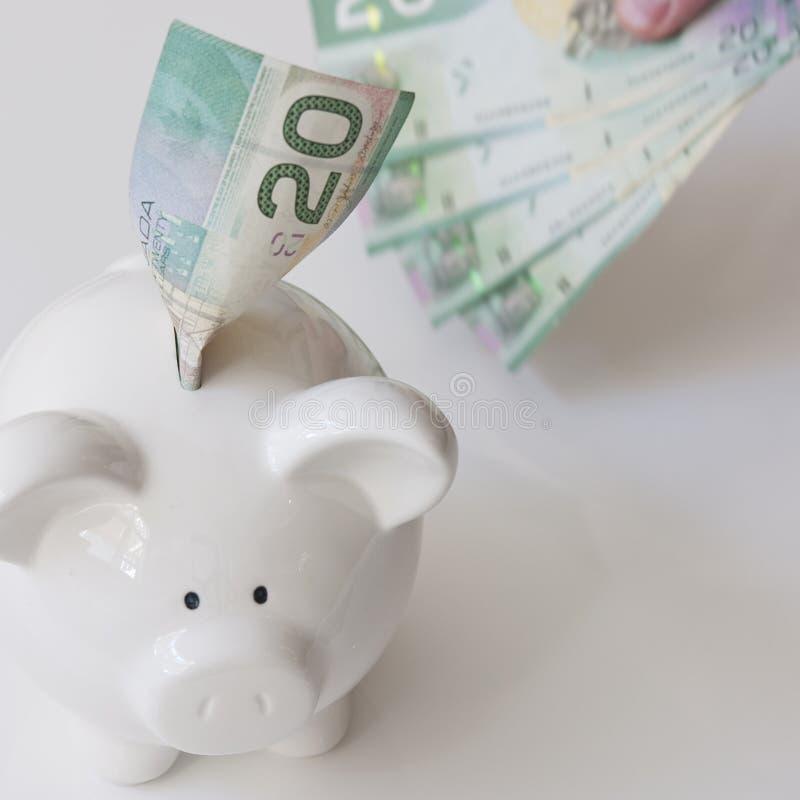 Ahorro del dinero de Canadá fotos de archivo