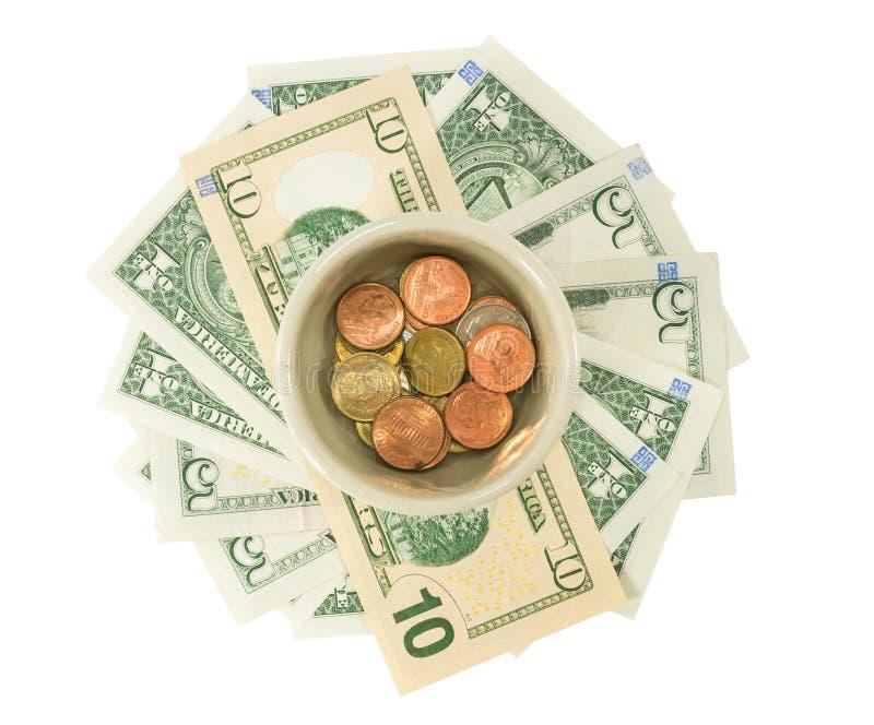 Ahorro del dinero para el retiro foto de archivo libre de regalías