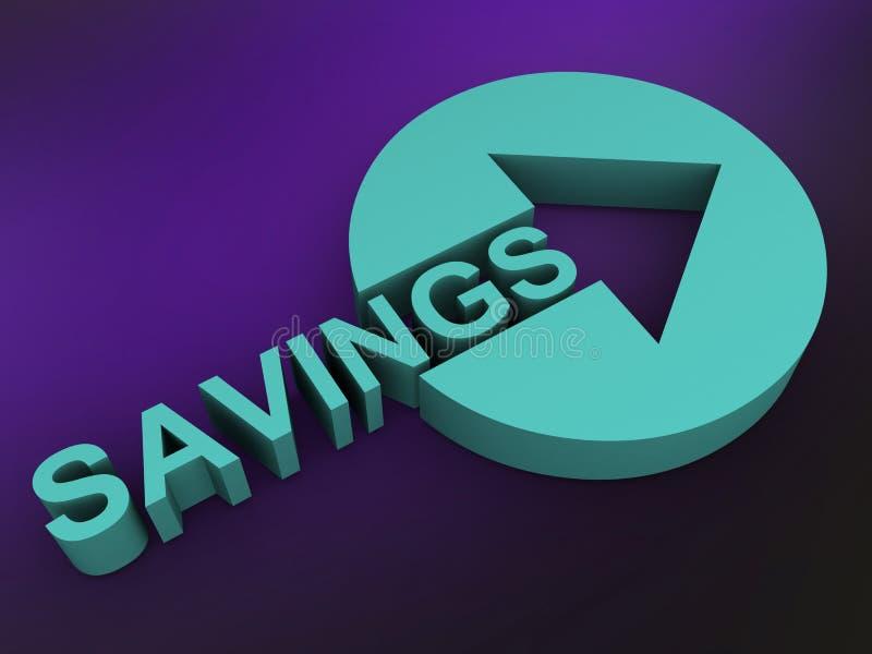 ahorros stock de ilustración