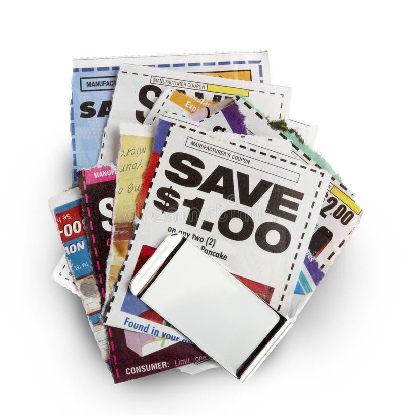 Ahorros de la cupón imágenes de archivo libres de regalías