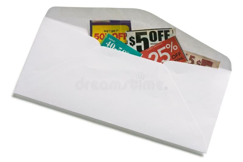 Ahorros de la cupón fotografía de archivo libre de regalías
