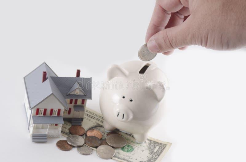 Ahorros de la hipoteca fotografía de archivo