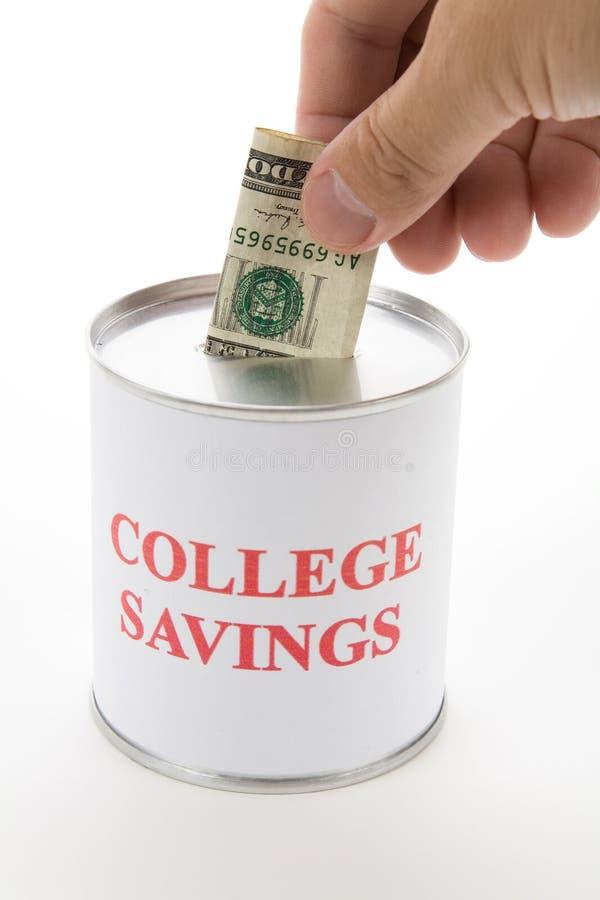 Ahorros de la universidad fotos de archivo