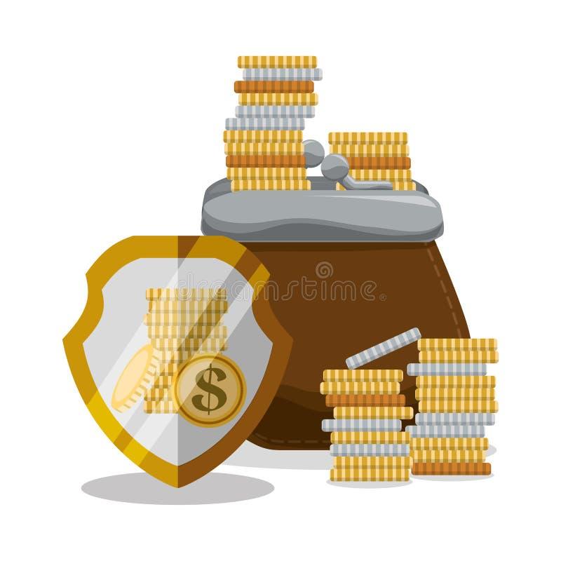 Ahorros del banco y del dinero ilustración del vector