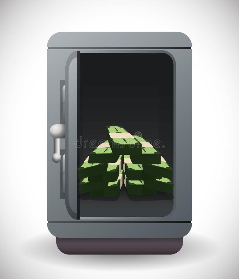 Ahorros del banco y del dinero libre illustration