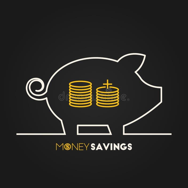 Ahorros del dinero ilustración del vector