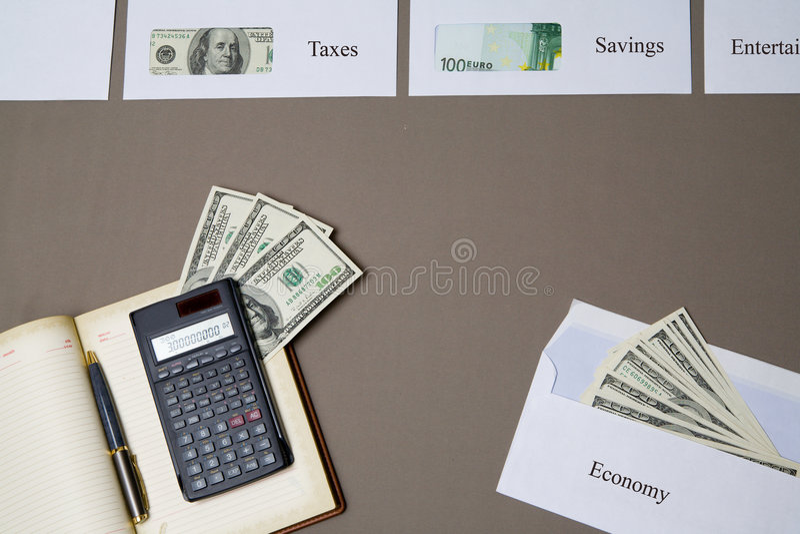 Ahorros del dinero fotos de archivo