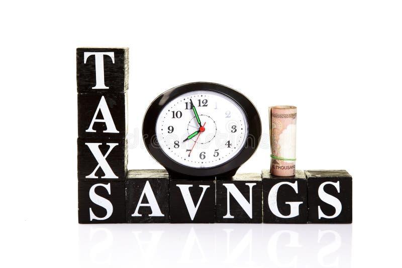 Ahorros del impuesto fotos de archivo