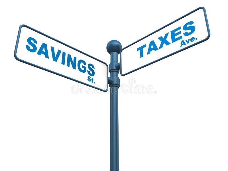 Ahorros e impuestos ilustración del vector