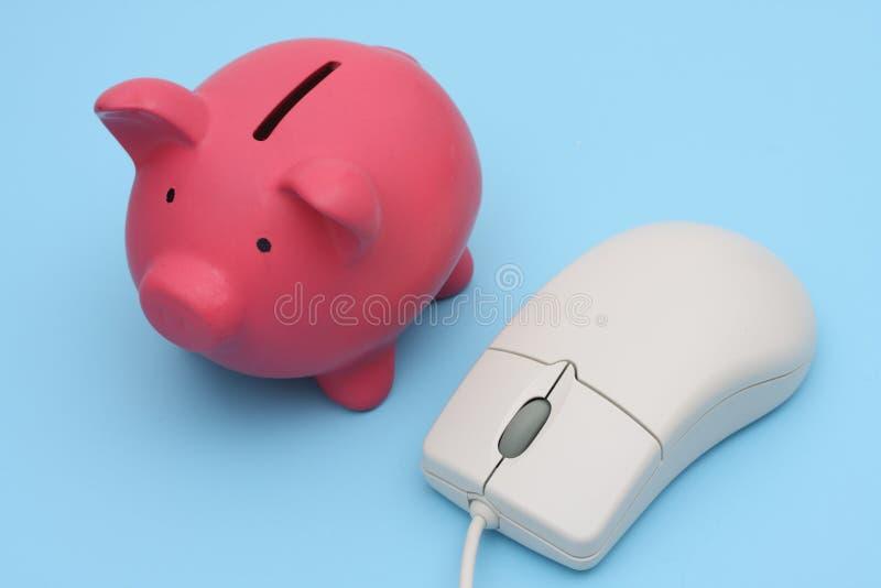 Ahorros en línea fotografía de archivo