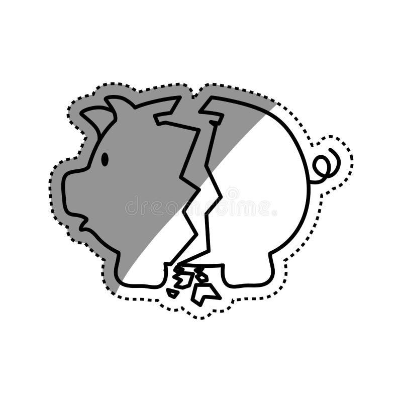 Ahorros guarros del dinero ilustración del vector