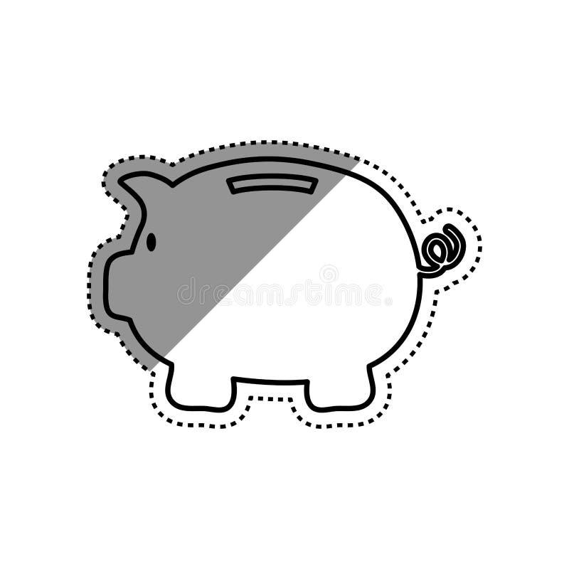Ahorros guarros del dinero stock de ilustración