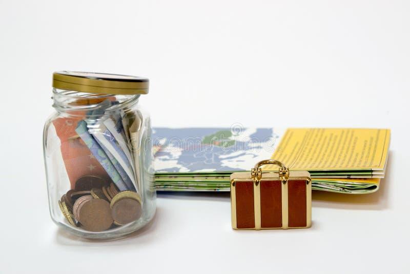 Ahorros para el viaje imagen de archivo libre de regalías