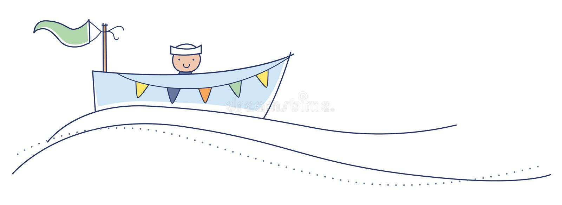 Ahoy è un ragazzo! fotografie stock