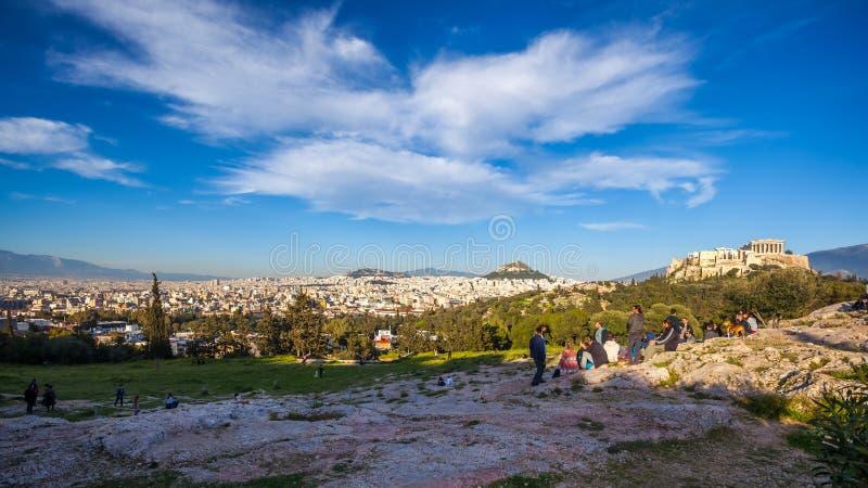 11 03 2018 Ahtens, Grécia - o templo do Partenon no Acropoli foto de stock