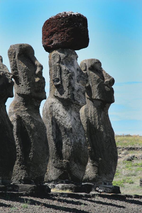 ahu复活节岛tongariki 库存图片