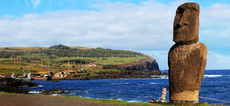 Ahu Hotake & landskap för påskö fotografering för bildbyråer