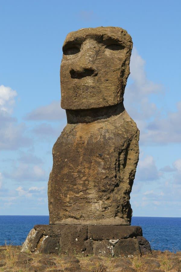 Ahu Ko te Riku, Easter Island royalty free stock photos