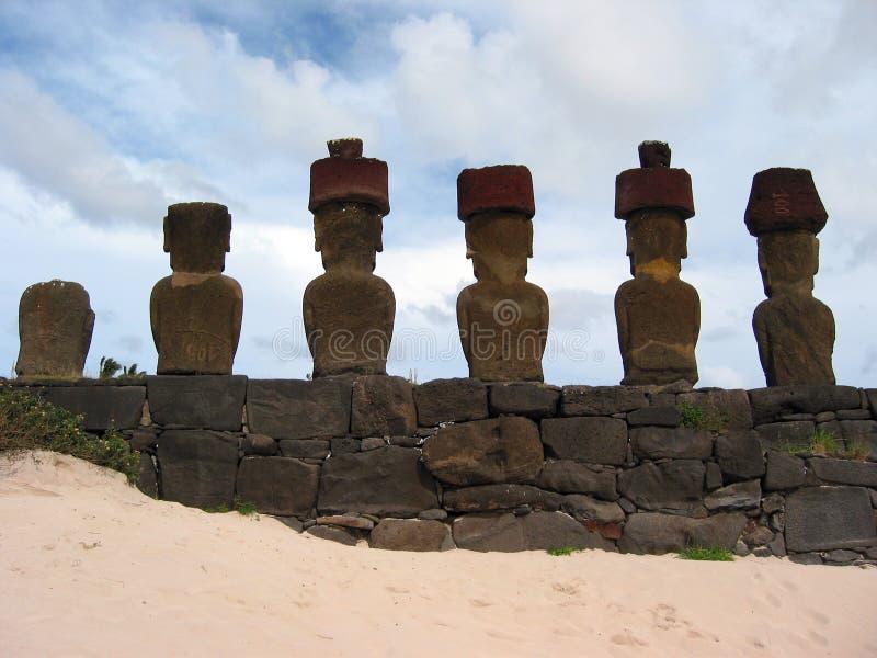Ahu Nau Nau imagenes de archivo