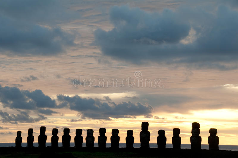 Ahu tongariki stock photos