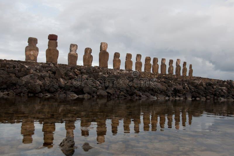 Ahu Tongariki. Easter island, Chile stock images