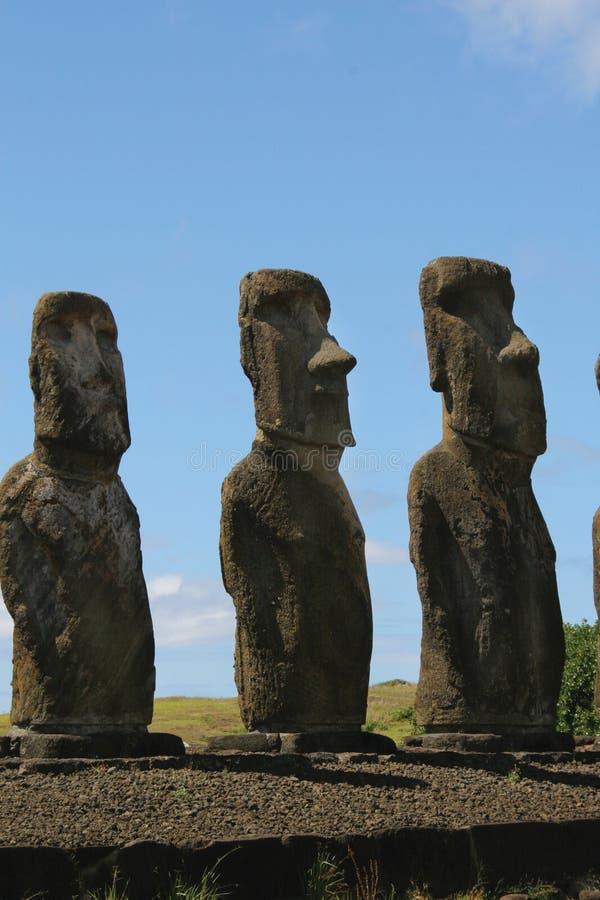 Ahu Tongariki, Easter Island stock photography