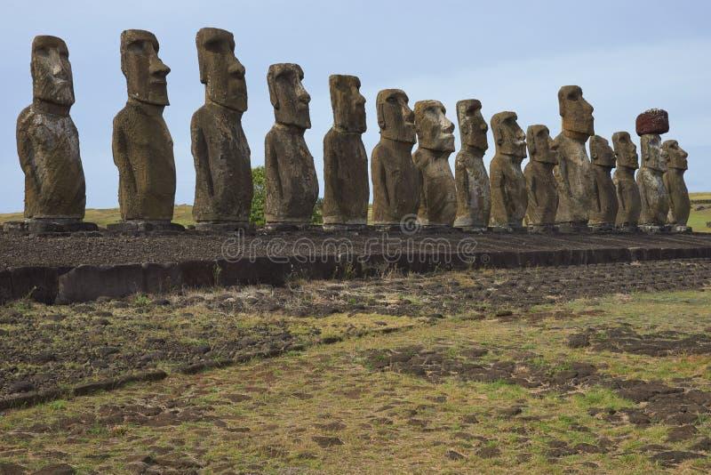 Ahu Tongariki, Easter Island, Chile royalty free stock photo