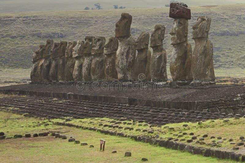 Ahu Tongariki, Easter Island, Chile royalty free stock image