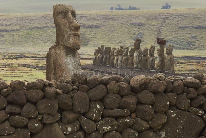 Ahu Tongariki, Easter Island, Chile royalty free stock photos