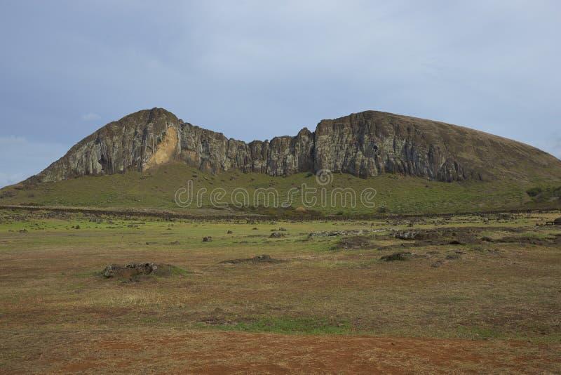 Ahu Tongariki, Ilha de Páscoa, o Chile foto de stock