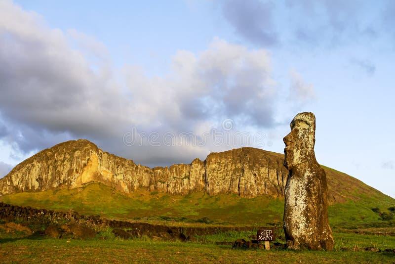 Ahu Tongariki. Moai at Ahu Tongariki on Easter Island stock photos