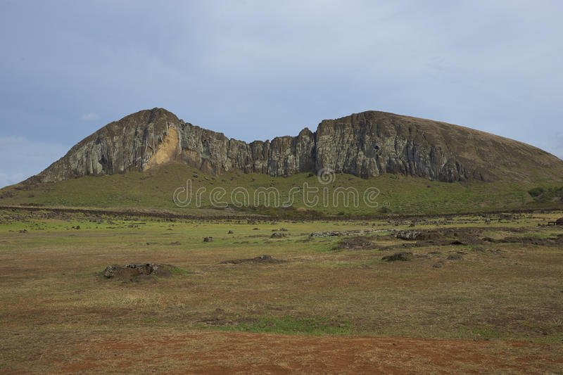 Ahu Tongariki, påskö, Chile arkivfoto