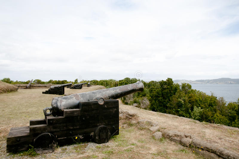 Ahui Fort - Chiloe ö - Chile arkivfoton