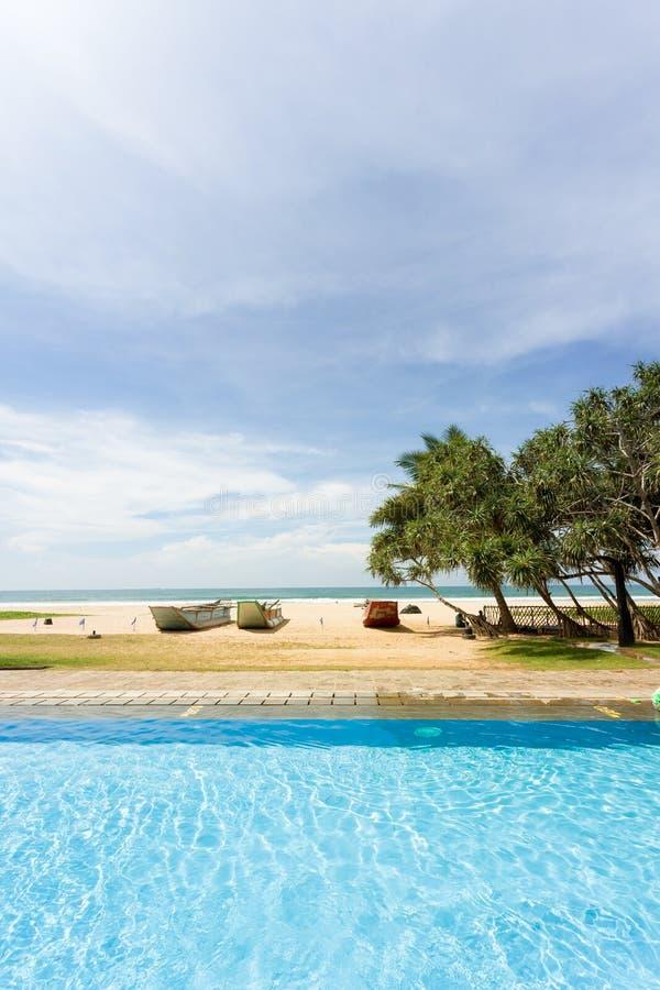 Ahungalla, Sri Lanka - ein perfektes Umgeben für einen Tag am PO stockbild