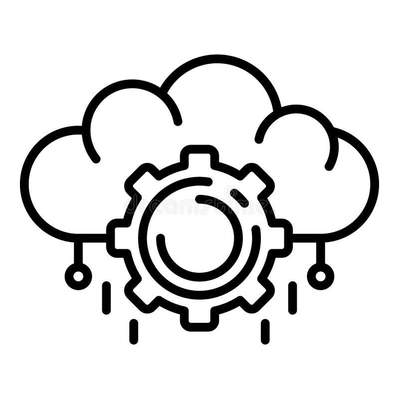 Ai云彩管理象,概述样式 库存例证