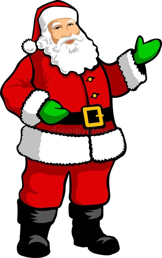 ai克劳斯・圣诞老人 向量例证