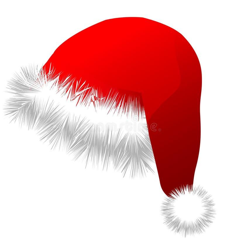 ai可用的圣诞节格式帽子 皇族释放例证