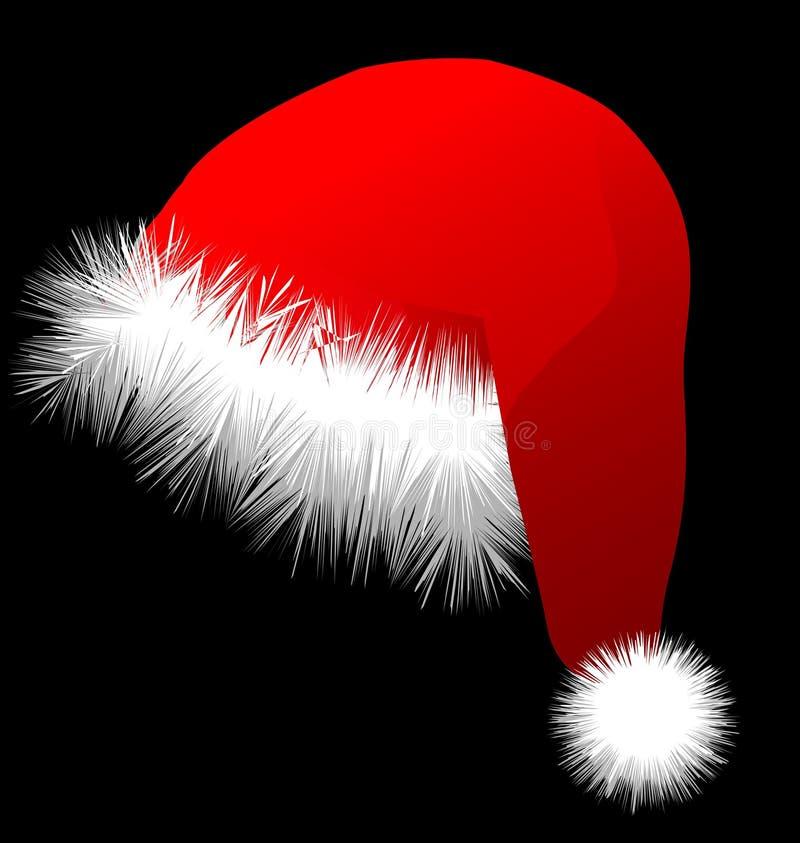 ai可用的圣诞节格式帽子 库存图片