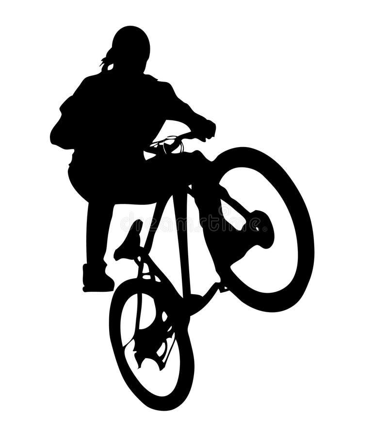 ai可用的骑自行车的人格式 向量例证