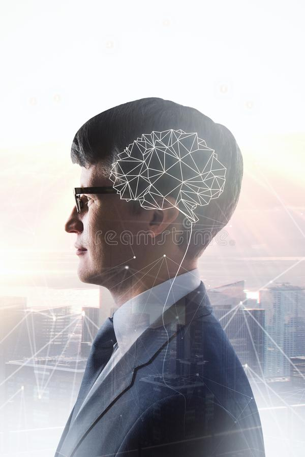 AI和技术概念 免版税库存图片