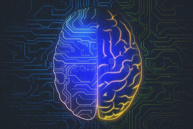 AI和计算的概念 库存例证