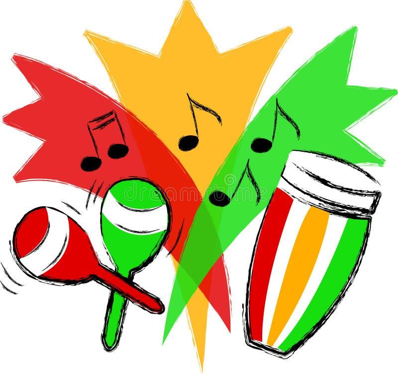 ai拉丁音乐 向量例证