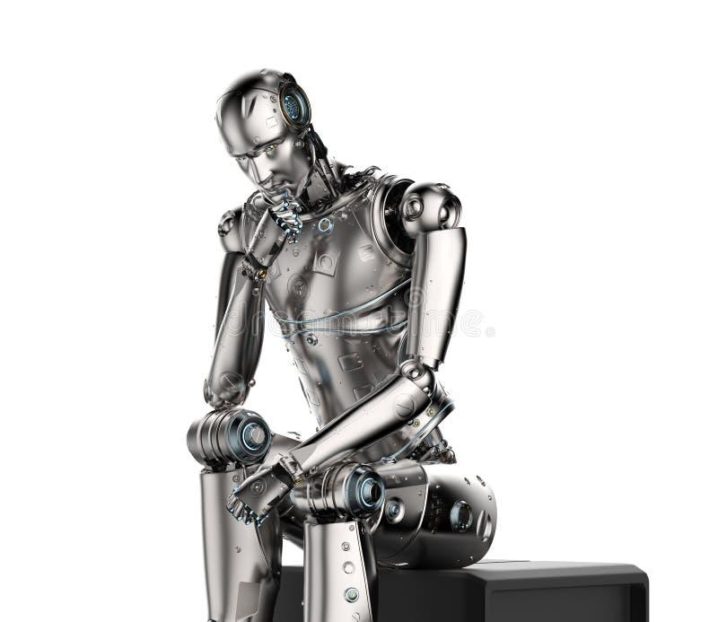 Ai机器人认为 库存例证