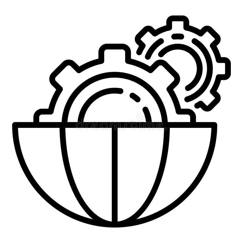 Ai齿轮样式象,概述样式 库存例证