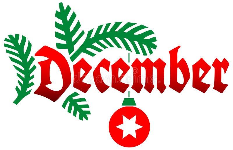 ai декабрь иллюстрация штока