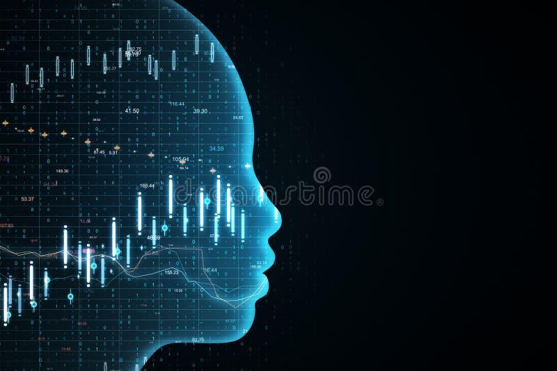 AI和投资概念 向量例证