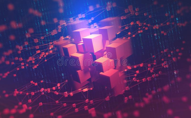 ai 神经网络和人工智能 网际空间的概念 皇族释放例证