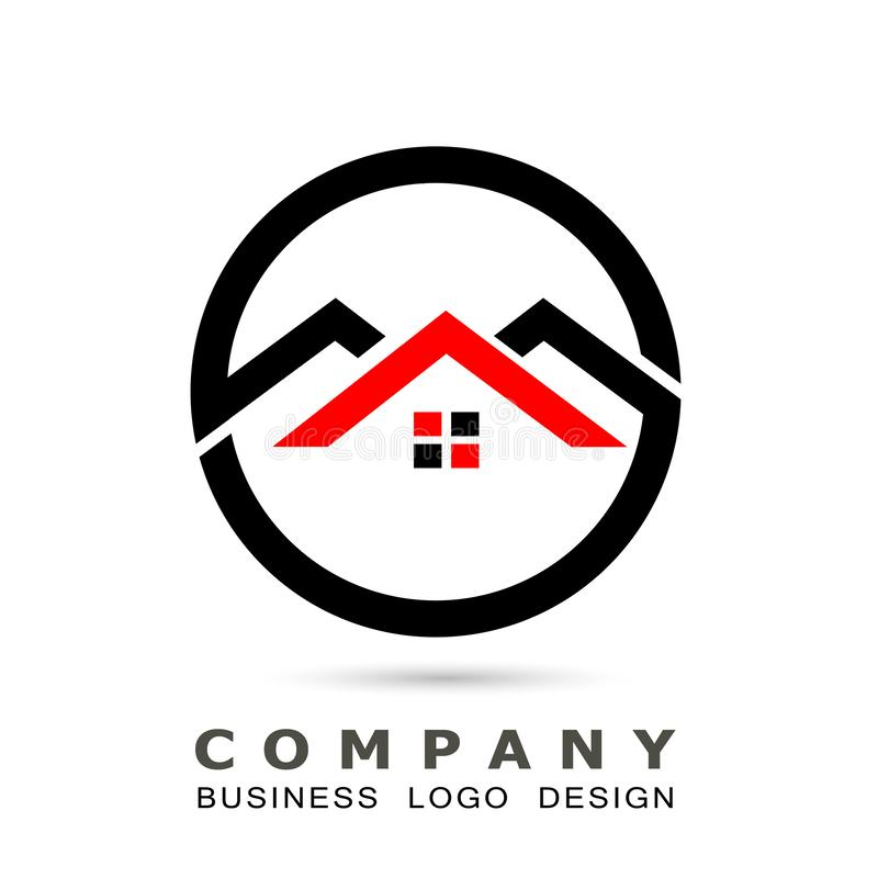 Абстрактная крыша дома недвижимости и домашний вектор дизайна значка элемента вектора логотипа на белой предпосылке Дело, собрани иллюстрация штока