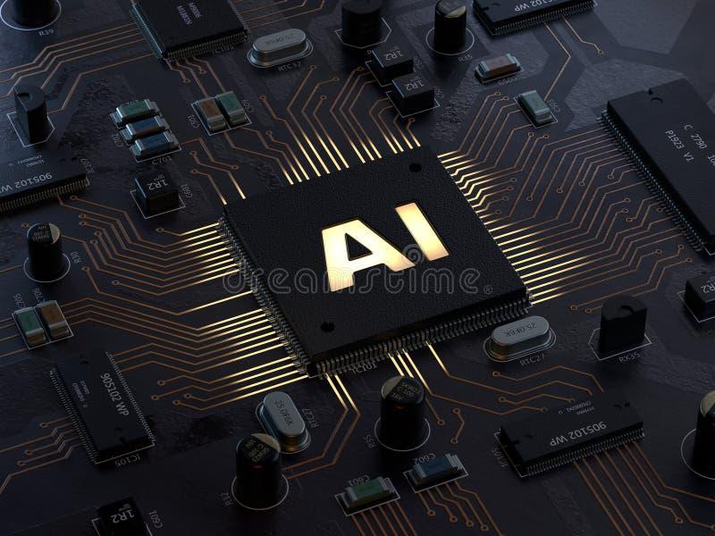 AI, Artificial Intelligence,computer concept vector illustration